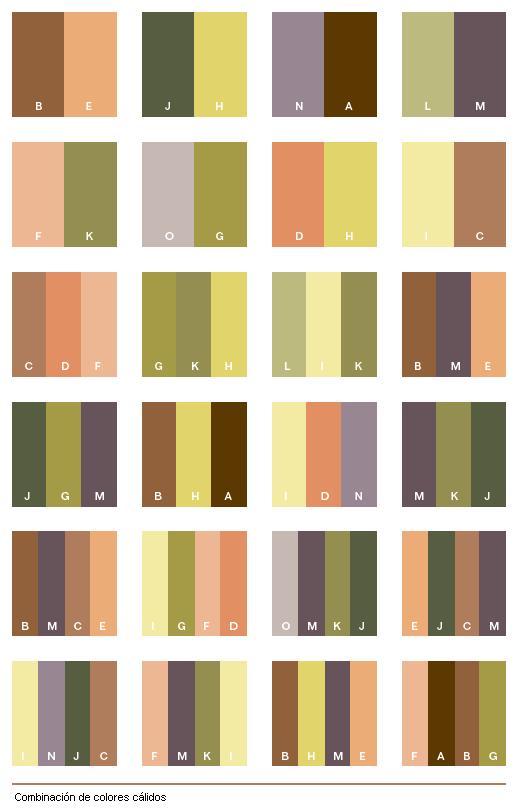 El Color: Combinación de colores Cálidos